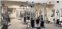 Weight training equipment at Meadow Creek